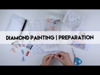 Diamond Painting - Preparation | Winter Coffee