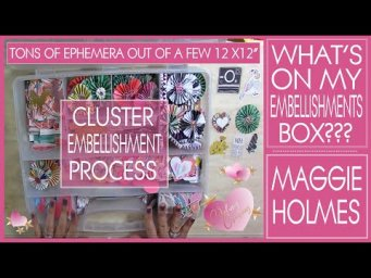 What's in my Embellishments Box and Cluster Embellishment Process