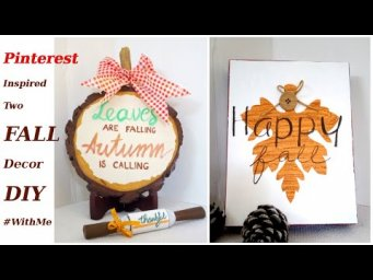 Two Pinterest Inspired Modern Rustic Natural Neutral Farmhouse FALL Decor DIY Sign #WithMe