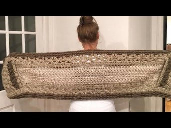 PART 2 Crochet pocket shawl