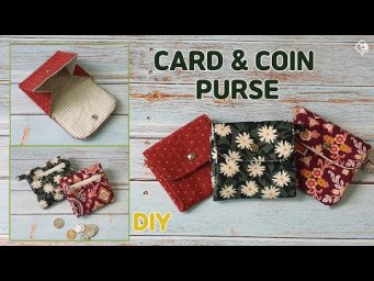DIY MINI CARD & COIN PURSE / Sewing Gift Idea/ Free Pattern/ sewing tutorial [Tendersmile Handmade]