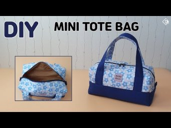 DIY MINI BOSTON BAG/ Simple tote bag/ Zipper pouch/  sewing tutorial [Tendersmile Handmade]