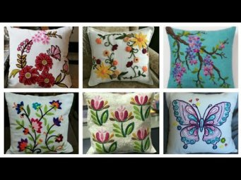 Beautiful Hand Embroidery Cushion Covers Designs / Pillow Cover Design Ideas