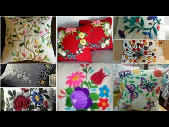 Hand Embroidery / Flowers Hand Embroidery Designs for Cushion Cover / Pillow Cover design