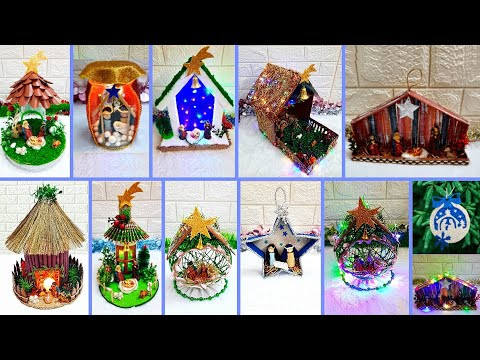 10 Low budget Handmade Christmas nativity scene | Best out of waste Economical Christmas craft idea