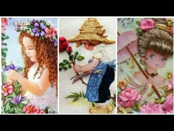 Amazing Hand Embroidery Doll design patterns / girl embroidery design / Heavenly Handmade Creations