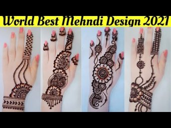 Top 4 mehndi designs for back hands Arabic mehndi design 2021_Simple and Easy Eid Mehandi design