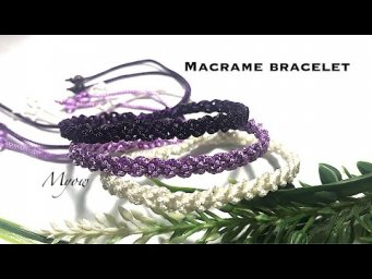 SIMPLE MACRAME BRACELET FROM BASIC KNOTS - EASY FOR BEGINNER - MYOW 212
