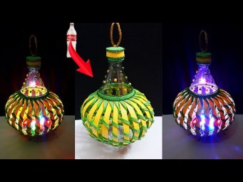 DIY-Easy Lantern made from Plastic Bottles at home |Best out of waste-home decoration ideas