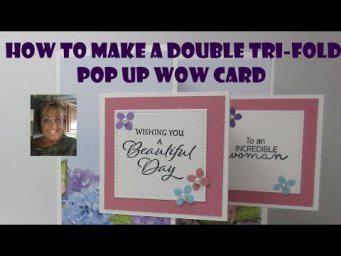 HOW TO MAKE THE EASIEST DOUBLE  TRI FOLD  POP UP CARD For All Occasions