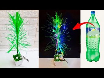 DIY Tree made with waste plastic bottle at home | DIY Room Decoration idea