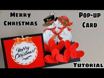 Christmas Pop up Card Tutorial||Christmas pop-up Card for Love one