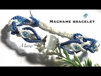 MACRAME TWISTED BRACELET - MACRAME BRACELET WITH STONE AND CRYSTAL - MYOW 200