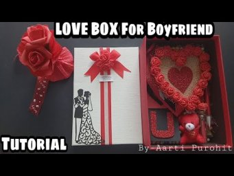 Valentine Love Box For Boyfriend Tutorial||How to Make Surprise Valentines gift||Love box Tutorial