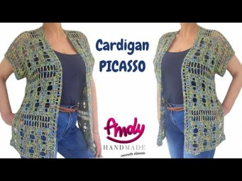 TUTORIAL Cardigan Picasso Uncinetto Facile Estate Andy Handmade