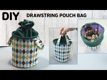 DIY DRAWSTRING POUCH BAG/ Makeup Pouch/ sewing tutorial [Tendersmile Handmade]