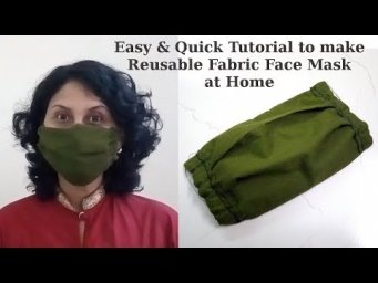 How to Make Inexpensive Reusable Multiuse Washable Fabric Face Mask at Home Easy Sew Project