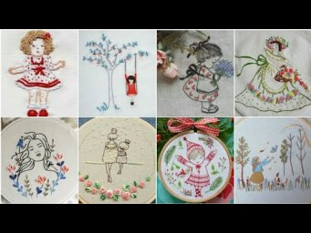 Beautiful doll hand embroidery patterns ideas and styles / hand embroidery design patterns