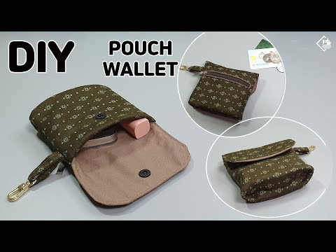 DIY MINI POUCH WALLET/ Card & Coin Purse / easy sewing tutorial [Tendersmile Handmade]