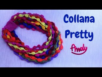 Collana Scaldacollo Pretty Uncinetto facile Idea Riciclo
