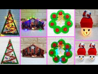 Economical Easy 4 Christmas Craft idea | Best out of waste Low budget Christmas craft idea (Part 4)