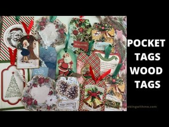 CREATING POCKET CHRISTMAS TAGS FROM SCRAPS AND WOOD PIECES