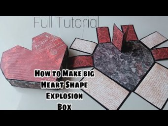 How to Make base of Big Heart Explosion Box ||How to Make Heart Explosion box Tutorial||