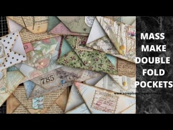 MASS MAKE DOUBLE FOLD JOURNALING SPOT TINY TUCKS ~ USING SCRAPS