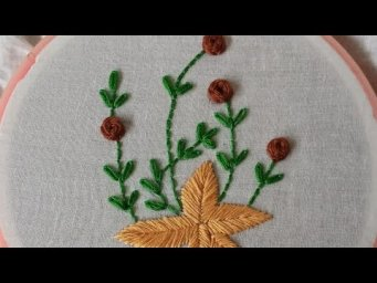 Easy Flower Embroidery Tutorial, Simple Flower Design_Beautiful Design Of Hand Stitch #shorts