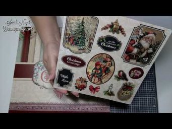 A Luxury Victorian Christmas Paper Pad Flip Through | Craftstash Design Team Christmas Haul