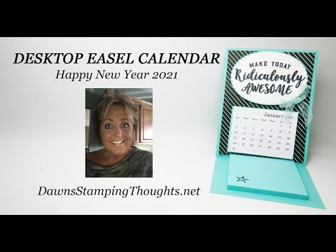 DESKTOP EASEL CALENDAR  Happy New Year 2021 !