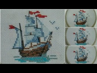 Hand Embroidery Pretty Boat / Hand embroidery design for wall  hanging 2020 / Wall hanging