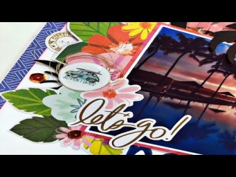 Scrapbooking Process Video: Paradise Found