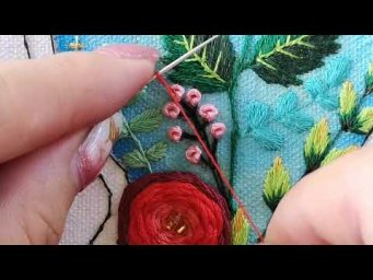 Hand Embroidery : Double French Knots