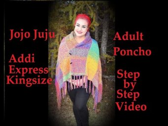 HOW TO MAKE ADULT PONCHO ON CIRCULAR KNITTING MACHINE