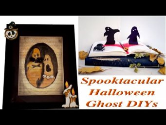 Absolutely New Quick Halloween Ghosts Decor DIYs Paper-craft for FREE / MomDas Life Handmade