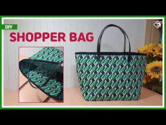 DIY/ SHOPPER BAG/ BIG SIZE BAG/ 빅사이즈의 쇼퍼백 만들기/ TOTE BAG/ SHOULDER BAG/ sewing tutorial [Tendersmile]