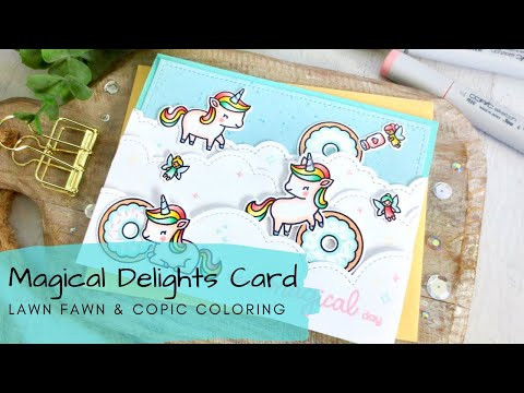 Magical Delights Card | Copic Coloring| Lawn Fawn