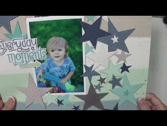 Pattern paper parade scrapbook layouts