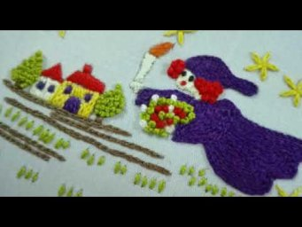 Natural Scenery hand embroidery | Hand Embroidery Natural Scenery tutorial for beginners