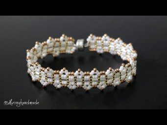 Elegant beaded bracelet diy. Jewelry making tutorial