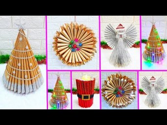 4 Economical Easy Handmade Christmas Craft idea | Best out of waste Low budget Christmas craft idea