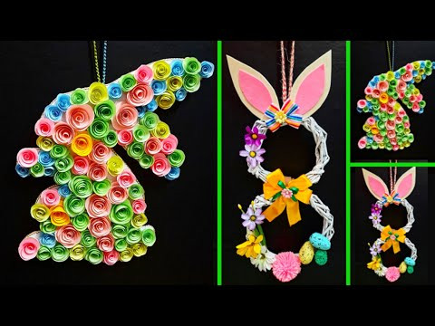 2 Economical Easter wreath with waste materials step by step |DIY Low budget Easter décor ideas