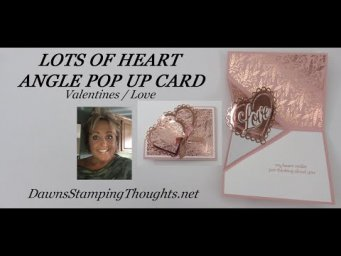 VALENTINE ANGLE POP UP CARD Lots Of Heart