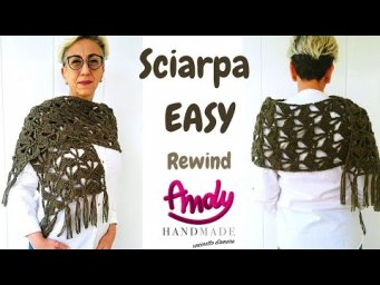 Sciarpa EASY BIG  Rewind Uncinetto Facile Andy Handmade