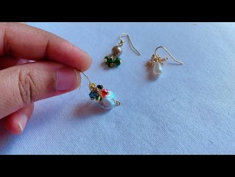 3 Easy and Beautiful Pearl Earrings/diy pearl drop earrings/Making simple daily wear pearl earrings