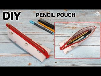 DIY PENCIL & PEN POUCH/ Zipper Pouch/ Easy sewing tutorial [Tendersmile Handmade]