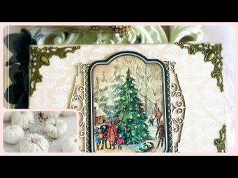 A Victorian Christmas Mini Album feat Luxury Victorian Christmas Collection | Craftstash | Scrapbook