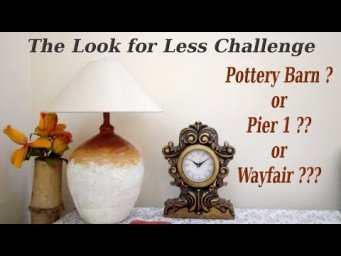 Pottery Barn Pier 1 Wayfair Inspired Table Lamp Dupe Hack DIY Look for Less Challenge