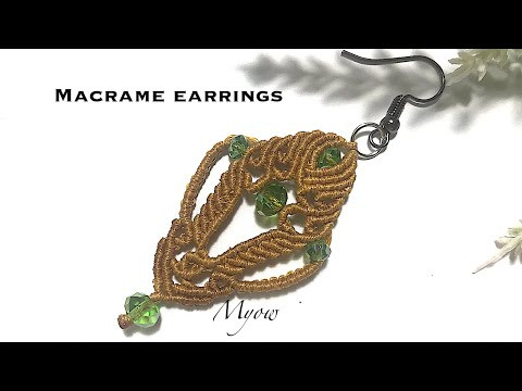 MICRO MACRAME EARRINGS - MYOW 202